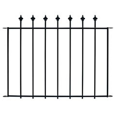 Shop No Dig Black Powder-Coat Steel Fence Panel (Common: 29-in x 38-in; Actual: 28.5-in x 37.8-in) at Lowes.com