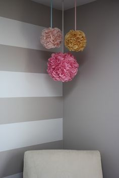 Love the stripes on one wall