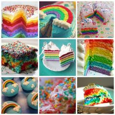rainbow cakes...I made a neon version of this for Emery's first birthday...adorable and bright colored!