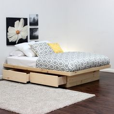 Gothic Cabinet Craft - Queen Platform Bed With 2 Drawers In Pine, $289.00 (http://www.gothiccabinetcraft.com/queen-platform-bed-with-2-drawers-in-pine/)