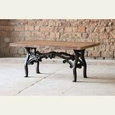Hyatt Cordelia Industrial Wrought Iron Dining Table
