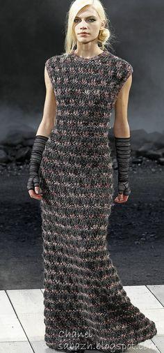 CHANEL СТИЛЬНОЕ ВЯЗАНИЕ: Вязаные платья 2011-2012