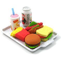Iwako Japanese eraser set