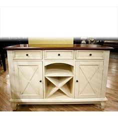 Nebraska Furniture Mart – Karavan Casual Dining Sideboard with Built in Wine Rack in Cream  SKU# 31912926