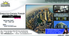 Property Details 	Emirates crown Tower  Dubai Marina 	BUA  8000 Sq.ft 	5 Bedroom apartment 	Full Sea View  SALE PRICE : AED 19000000 Daylight Properties are a Property Investment Firm with an ownership of more than 200 properties all around Dubai. These are handpicked exclusive apartments and villas located within the most prestigious and high-profile developments of Dubai. We do not just believe in customer satisfaction we aim for customer delight. We understand that our customers define…