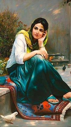 Hot painting | Painings of Indian women | Pinterest | Indian ...
