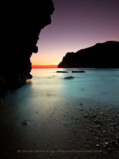 sunset peeking