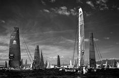 The city of sky-scraping sails. Bol d'Or Mirabaud 2013 Regatta.