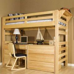 University Loft Graduate Series OpenTwin Loft Bed with Built-In Ladder | Wayfair