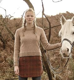 Gatland pattern by Lisa Richardson, from A/W 2015 pattern booklet for Rowan Hemp Tweed. Available July 2015.