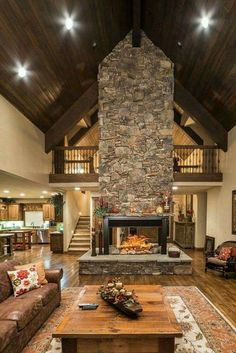Great fireplace placement