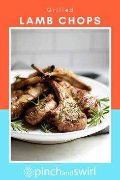 With a simple marinade recipe of olive oil, garlic, rosemary, salt and pepper, these grilled lamb chops are so easy to prepare! Roasted Lamb Chops, Lamb Loin Chops, Grilled Lamb Chops, Healthy Grilling Recipes, Healthy Summer Recipes, Easy Dinner Recipes, Real Food Recipes, Lamb Chop Recipes, Chicken Recipes