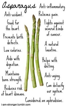 Asparagus Health Benefits // A great infographic!