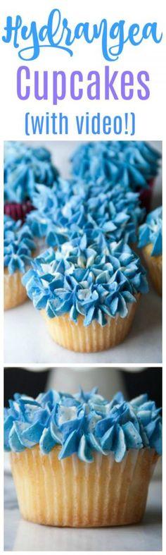 Hydrangea Cupcakes (+ video!) - Boston Girl Bakes