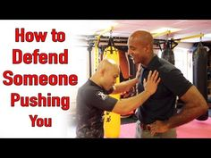 How to defend someone pushing you - wing chun - YouTube