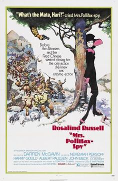 """Mrs. Pollifax-Spy"" Movie Poster by Frank Frazetta (Leslie H. Martinson 1971) /  I have got to find this movie!"