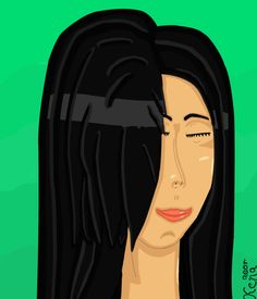Piece done some time ago taking tifa lockhart face - right profile.