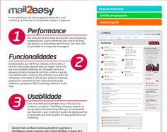 Mail2Easy, a melhor ferramenta de e-mail marketing do Brasil. #indico  http://www.dinamize.com