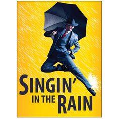 """Singin' in the Rain"" with, of course, a black umbrella"