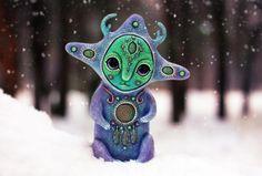 Чудесный мир инопланетных кракозябр художница из Харькова Марьяна Копылова.