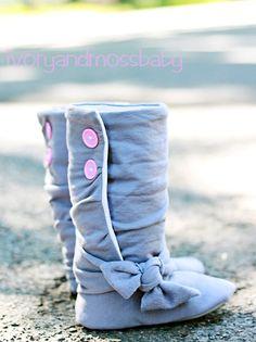 Handmade baby boots.