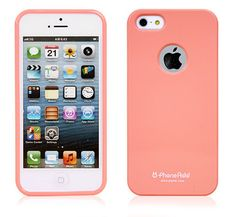 Alice Pastel Slim-Fit Case with Logo Hole for iPhone 5 - Peach