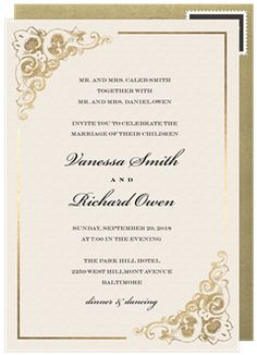 Image Result For Gold Blue Border Coral Letters Invitation