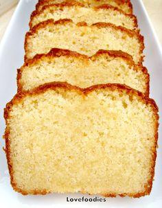 Moist Vanilla Pound / Loaf Cake