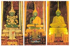 the emerald Buddha. Ubosot (chapel) of Wat Phra Kaeo, Bangkok.