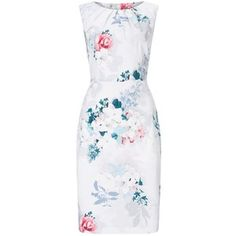 Phase Eight Mariah Floral Dress, Pale Grey