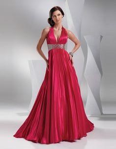 2015 Style Empire V-neck Sleeveless Floor-length Elastic Woven Satin Bridesmaid  Evening Dresses  Prom Dresses