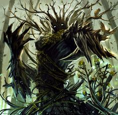 Earth Elemental by merillizaART on DeviantArt Forest Creatures, Fantasy Creatures, Mythical Creatures, Irish Mythology Creatures, Mythological Creatures, Fantasy Character Design, Character Inspiration, Character Art, Fantasy Forest