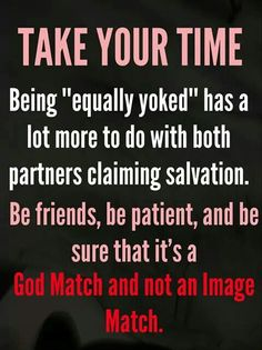 Christian dating unequally yoked
