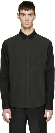 Rag & Bone - Green Flannel Yokohama Shirt