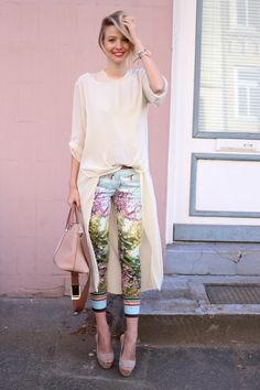 http://www.ohhcouture.com/2015/04/spring-pants-vol-ii/ | #ohhcouture Streetstyle: Nude layers and Baylee Chloé bag