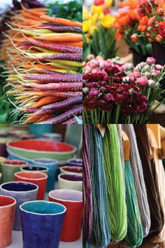 Adorei estas combinações de cores. Na verdade é uma fotografia dos mercados da nova Inglaterra, fotos do livro Markets of new England, by Christine Chitnis.