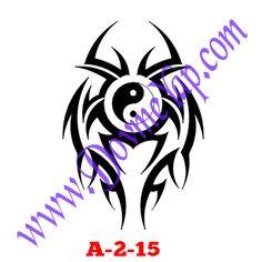 Sonsuzluk Geçici Dövme Şablon Örneği Model No: A-2-15