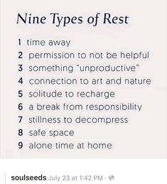 helps people to increase their EQ Creative Wellness Expert, Christine Scott-Hudson, shares the Nine Types Of Rest we can utilize in our Self-Care Practice. Create Your Life Studio. Stress, Motivation, Healthy Mind, Self Improvement, Self Care, Trauma, Self Help, Just In Case, Wise Words