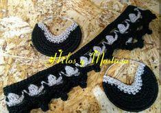 Gargantilla doble en crochet Chokers, Tejidos, Accessories