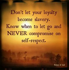 Inner knowing and self respect