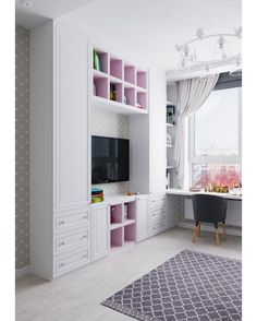 Closet Designs With Tv Ideas Home Decor Bedroom, Interior Design Living Room, Girl Bedroom Designs, Bedroom Design, Girls Bedroom, Living Room Decor On A Budget, Kids Bedroom Designs, Girl Room, Room Design