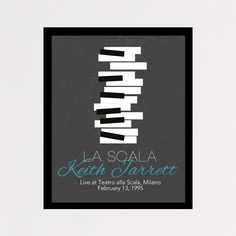 Musical Poster, printable wall art decor / poster Keith Jarrett - La Scala concert, digital typography poster for home decor and office decor, yoga
