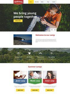 Summer Camp WordPress Template