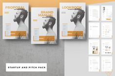Startup Proposal Pitch Pack by Egotype on @creativemarket