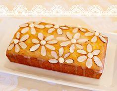 Lemon Almond Pound Cake with Almond Flower Glaze