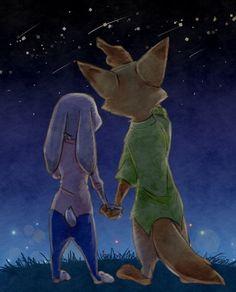 Disney Zootropolis, Disney Couples, Cute Anime Couples, Disney Fan Art, Cute Disney, Nick Y Judy, Nick And Judy Comic, Zootopia Fanart, Zootopia Nick And Judy