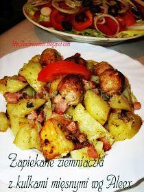 W mojej kuchni: Ziemniaczki zapiekane z mięsnymi kulkami wg Aleex Ale, Polish Recipes, Potato Salad, Cauliflower, Casserole, Menu, Potatoes, Cooking Recipes, Chicken