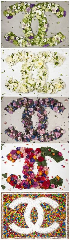 CHANEL | flowers Original way of promoting a brand - not that Chanel needs it of course!