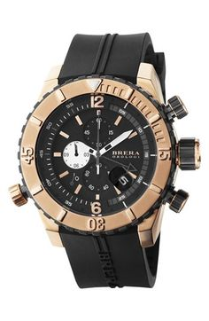 Brera 'Sottonmarino' Chronograph Diver Watch, 48mm | Nordstrom