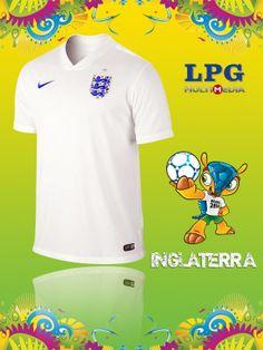 Camiseta de la selección de Inglaterra en el mundial #Brasil2014